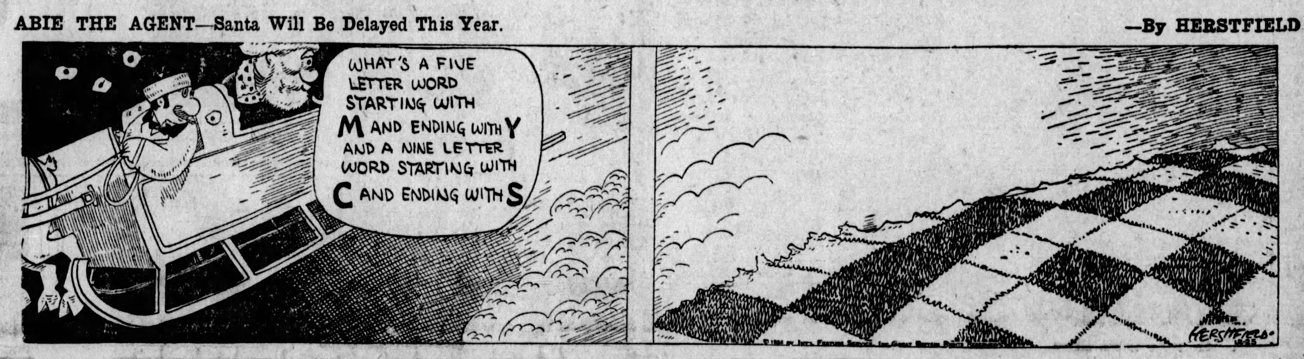 Abie the Agent, December 25, 1924