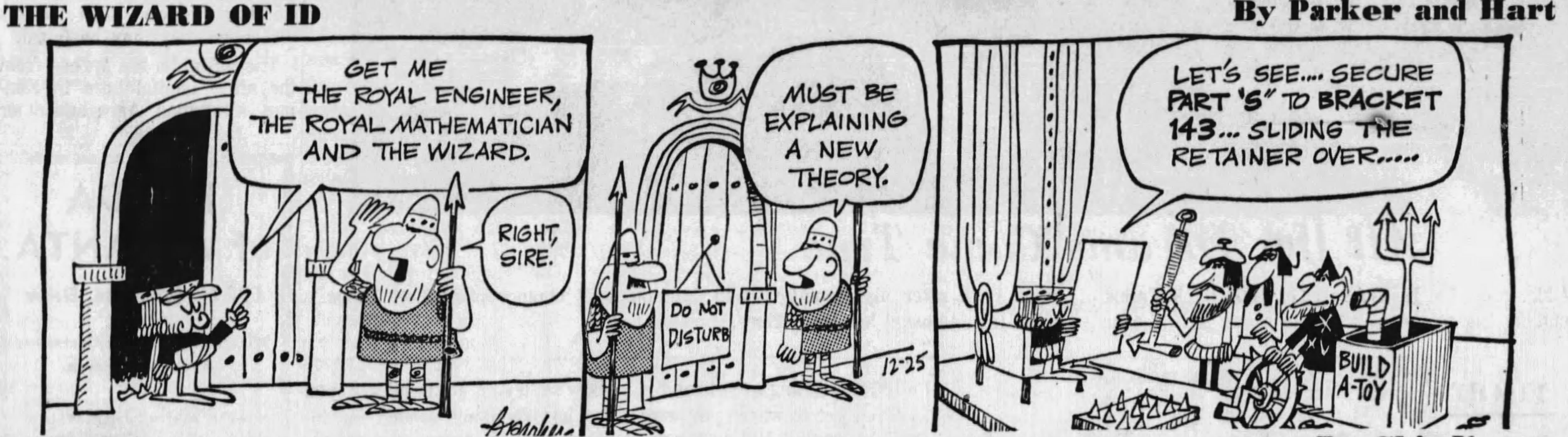 The Wizard of Id, December 25, 1967